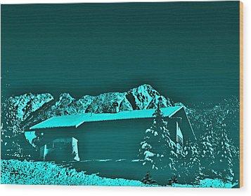 Haus In Den Bergen Wood Print
