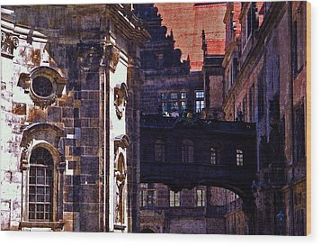 Wood Print featuring the photograph Hausmann Tower In Dresden Germany by Jordan Blackstone