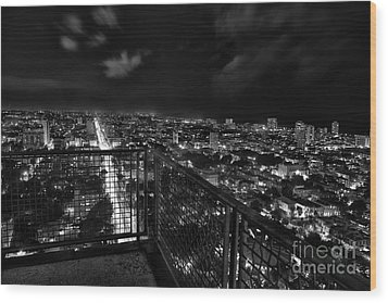 Havana At Night Wood Print