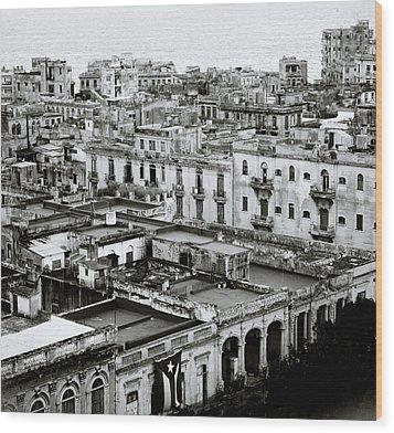 Havana City Wood Print by Shaun Higson