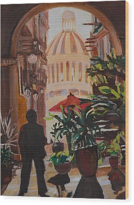 Wood Print featuring the painting Havana by Julie Todd-Cundiff