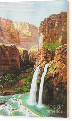 Havasu Falls Grand Canyon Wood Print