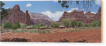 Wood Print featuring the photograph Havasupai Village Panorama by Alan Socolik