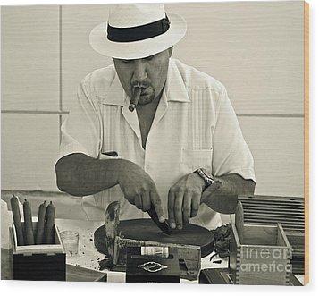 Have A Cigar Wood Print by Gwyn Newcombe