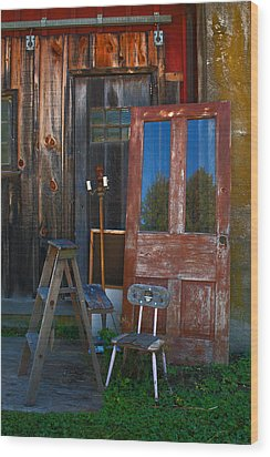 Have A Seat Wood Print by Michael Porchik