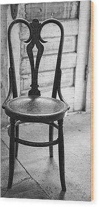 Have A Seat With History Wood Print by Thomas Young