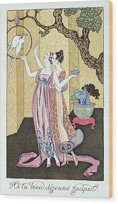 Have You Had A Good Dinner Jacquot? Wood Print by Georges Barbier