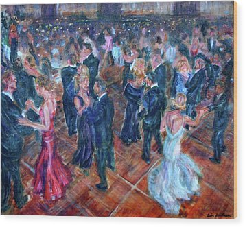 Having A Ball - Dancers Wood Print by Quin Sweetman