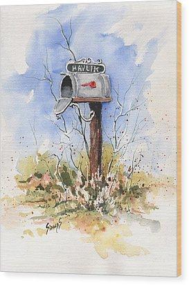 Havlik's Mailbox Wood Print by Sam Sidders