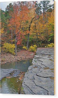 Haw Creek Fall 2 Wood Print by Marty Koch