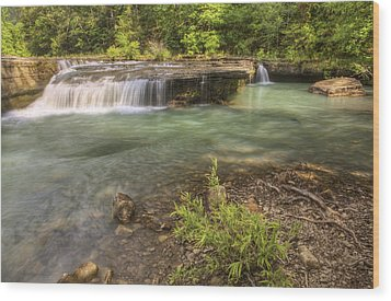Haw Creek Falls Basin - Ozarks - Arkansas Wood Print by Jason Politte