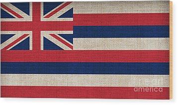 Hawaii State Flag  Wood Print by Pixel Chimp