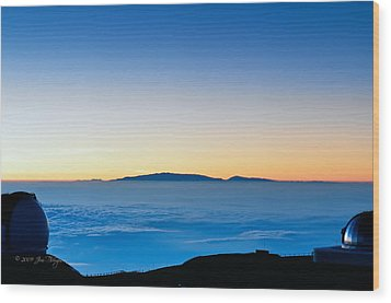 Wood Print featuring the photograph Hawaii Sunset by Jim Thompson