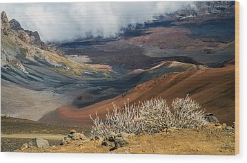 Hawaii Volcano Landscape Wood Print by Pierre Leclerc Photography