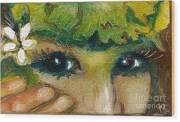 Hawaiian Eyes Wood Print