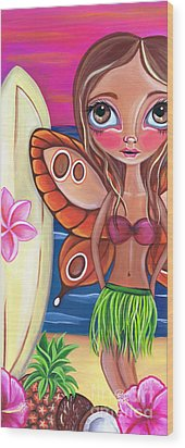 Hawaiian Fairy Wood Print by Jaz Higgins