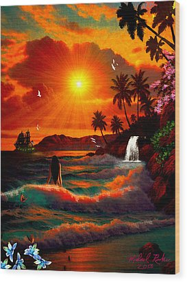 Hawaiian Islands Wood Print by Michael Rucker