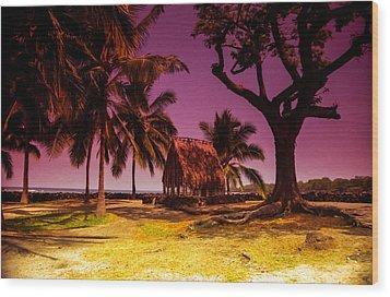 Hawaiian Jail Wood Print by Randy Sylvia