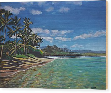Hawaiian Paradise Wood Print by Richard Nowak