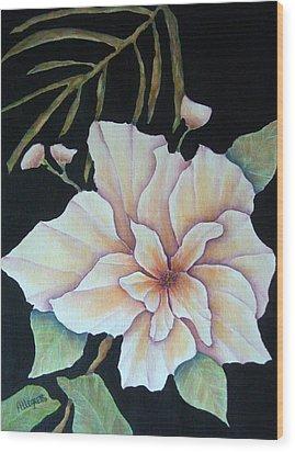 Hawaiian Pua Wood Print by Pamela Allegretto