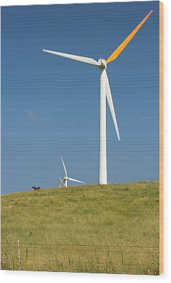 Wood Print featuring the photograph Hawi Wind Farm  by Scott Rackers