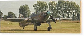 Hawker Hurricane Taxing Wood Print