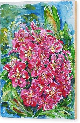 Hawthorn Blossom Wood Print by Zaira Dzhaubaeva