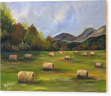 Hay Bales In Wv Wood Print