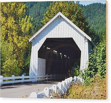Hayden Covered Bridge Wood Print