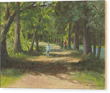 Hayden Shaded Path Wood Print