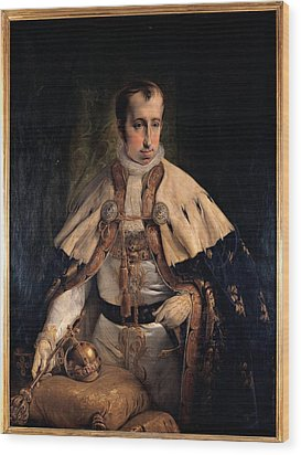 Hayez Francesco, Portrait Of Emperor Wood Print by Everett