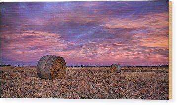 Hayseed Wood Print by Thomas Zimmerman