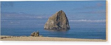 Haystack Rock - Pacific City Oregon Coast Wood Print by Brian Harig