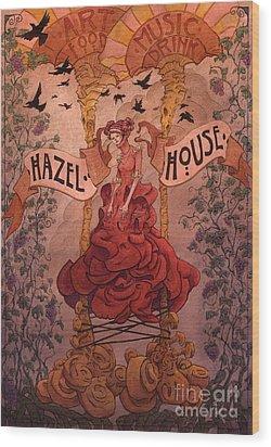 Hazel House Wood Print by Ethan Harris