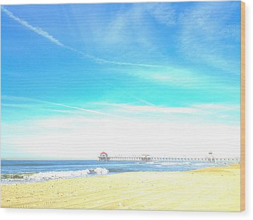 Wood Print featuring the photograph Hb Pier 7 by Margie Amberge