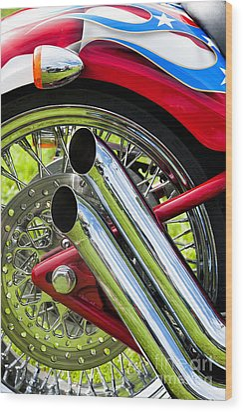 Hd Custom Drag Pipes Wood Print by Tim Gainey