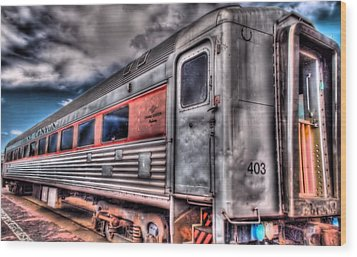 Hdr Train Wood Print by DH Visions Photography