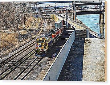 Hdr Train Wood Print