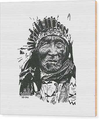 He Dog Wood Print by Clayton Cannaday