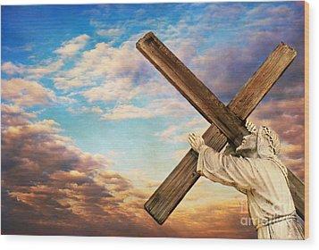 He Has Risen Wood Print by Darren Fisher