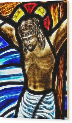 He Hung In There 2 Wood Print by Karen Showell