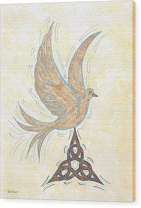 He Set Us Free Wood Print by Susie WEBER