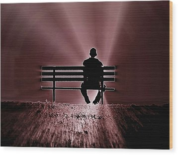 Wood Print featuring the photograph He Spoke Light Into The Darkness by Micki Findlay