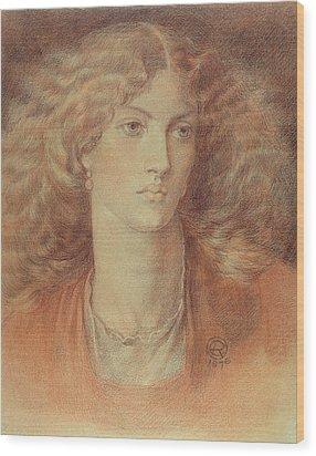 Head Of A Woman Called Ruth Herbert Wood Print by Dante Charles Gabriel Rossetti