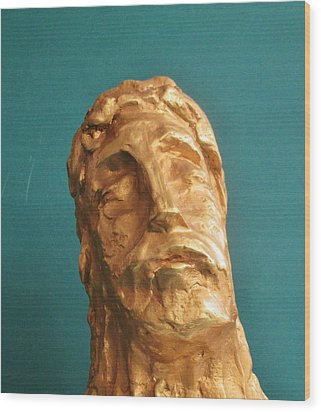 Head Of Christ 2014 Wood Print