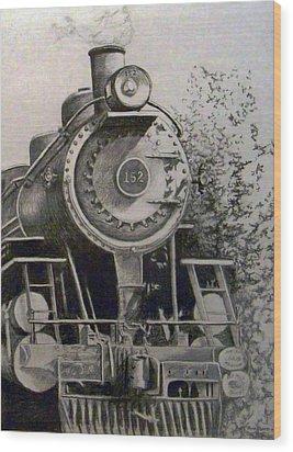 Head Of Steam Wood Print by Rick Moore