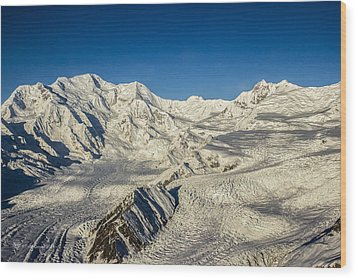 Head Of The Kennicott Glacier Wood Print