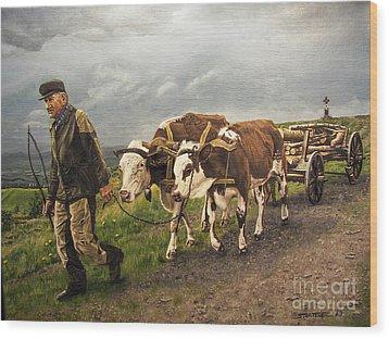 Heading Home Wood Print by Deborah Strategier
