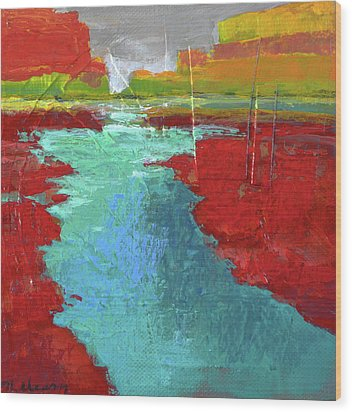 Heading West No. 3 Wood Print by Melody Cleary