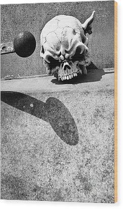 Headknocker Wood Print by Lawrence Burry
